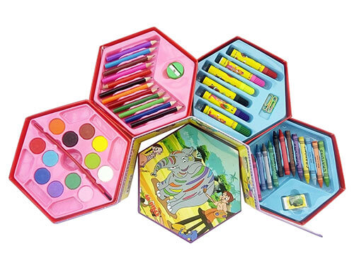 Kids 46pc Art Set - Assorted colours