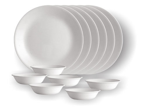 Corelle 6 Dinner Plates + 6 VDBs (Round)