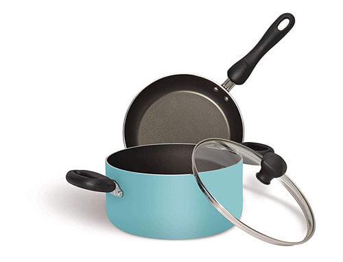 Meyer Non-Stick Biryani Pot 2.8L + Frypan with Lid Set